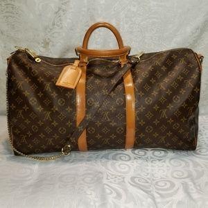 Louis Vuitton Keepall Monogram Bandouliere 55